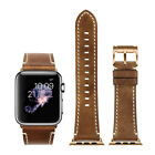 Apple Watch Strap 42mm iStrap Genuine Leather iWatch Band Black Class Pin Buckle