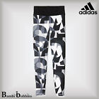 Adidas Graphic Sports Leggings Age 5-6-7-8-9-10-11-12-13-14-15 Years Black White