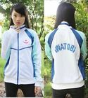 Iwatobi Swim Club Haruka Nanase School Sprot Cosplay Coat Jacket  Free shipping
