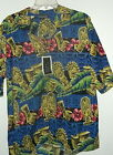 NWT M OR XL DRUMS & STONE GODS HAWAIIAN SHIRT by MONTAGE  POLY MICROFIBER