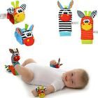 Baby Infant Developmental Soft Wrist Strap Foot Socks Rattle Bug Finders Toy US