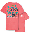 Southern Couture Friends are Chosen Family Comfort Colors Bright Girlie T-Shirt