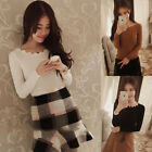 Women Casual Long Sleeve Wool Tops Sweater Pullover Sweatshirt Blouse Clothes