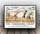 Yorkshire Coast : Vintage Rail Travel advert , Wall art , poster, Reproduction.