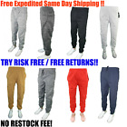 Mens Casual Cotton Fleece North Pole Baggy Winter Jogger Sweat Pants Very Warm!