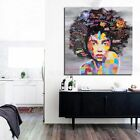 African WomAn Canvas Wall Oil Painting Art Prints Living Room Home Decor