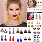 Eleagnt Women Boho Jewelry Tassel Earrings Crystal Drop Dangle Earrings Ear Stud
