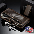 Genuine Leather Wallet Card Holder Flip Stand Case for Samsung Galaxy S8/S8 Plus