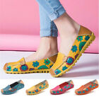 Fashion Women Genuine Leather Loafers Slip-On Flats Shoes Casual Boat Shoes New