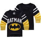 Kids Long Sleeve T-Shirt Tops Sweater Sweatshirt Batman Boys Blouse Tee Pullover