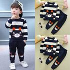 2PCS Set Kids Toddler Baby Girl Boys Clothes Tops Shirt+Pants Trousers Tracksuit