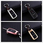 Key Cover For Buick Key Fob Aluminum Metal Genuine Leather Car Key Case Holder
