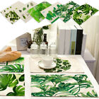 Practical Green Leaf Rectangle Table Cloth Table Cover Placemat Mat Coasters