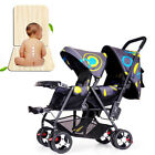 Foldable Twin Baby Stroller Lightweight Travel System Double Pushchair Buggy