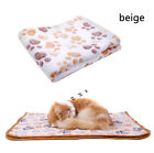 Warm Pet Blanket Small Large Paw Print Cat Dog Puppy Soft Fleece Bed Mat Cushion