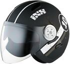 IXS HX 137 Luna jethelm Black Matt White Motorcycle Helmet Sun Visor and Visor