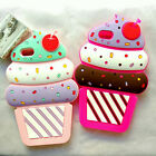 New 3D Cartoon Cherry Cupcakes Ice Cream Shaped Silicone Case Bumper For Phones