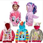 Kids Girls Hooded My Little Pony Wing Sweater Sweatshirt Coat Zip Jacket Clothes