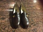 BALLY  6 1/2 E  Brown Flats with Gold tone Switzerland FAB GLOBAL LUXURY BRAND!
