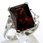 ADORABLE 7 CT GARNET 925 STERLING SILVER RING SIZE 5-10