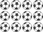 "12 or 24 x 1.5"" EDIBLE PRECUT FOOTBALLS ICING CUPCAKE TOPPERS"
