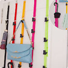 New 8 Hooks Over Door Strap Hanger Bag Hat Coat Hanging Organizer Clothes Holder