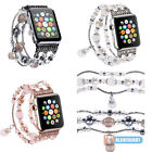 Agate Beads Replacement Strap Band Bracelet For Apple Watch 38mm 42mm