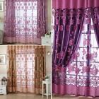 New Floral Tulle Voile Door Window Curtain   ZH2A