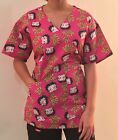 Betty Boop Simply Iconic Medical Scrub Mock Wrap Top Sz S-XL NWT $33.21 CAD on eBay