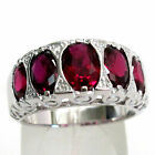 BEAUTIFUL 4 CT RUBY 925 STERLING SILVER RING SIZE 5-10