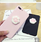 Lovely Squishy 3D Animals Cat Paw Soft phone Case Cover For Samsung & iphone