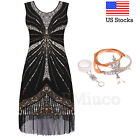 1920s Flapper Great Gatsby Dress Cocktail Party Sequins Evening Prom 20s Dresses