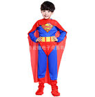 Halloween Kids Boy Cosplay Superman Zorro Fancy Dress Costume Jumpsuits Outfit