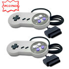 Two 2 New 16 Bit Controller for Super Nintendo SNES System Console Control Pad