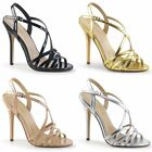 PLEASER Amuse-13 Strappy Open Toe Dress Party Evening Heels LARGE PLUS SIZE 4-13