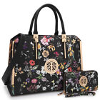 Dasein Womens Handbags Faux Leather Briefcase Tote Bag Work Purse w/ Wallet image