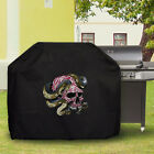 Waterproof Barbecue Cover Universal Personaliz​ed Motorcycle Snake Skull BBQ