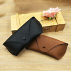 Durable Leather Eye Glasses Sunglasses Shell Hard Case Protector Box Pouch Bag
