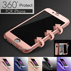 Luxury 360° Hybrid Acrylic Hard Case+Tempered Glass Cover For iPhone 6S & 6 Plus