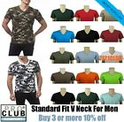 PRO CLUB V NECK T SHIRTS PLAIN MENS CAMO SHIRT PROCLUB SHORT SLEEVE BIG AND TALL image