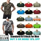 PRO CLUB V NECK T SHIRTS MENS CAMO PLAIN SHIRT PROCLUB SHORT