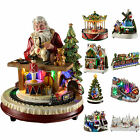 Pre Lit LED Christmas Decoration Ornaments , Santa Church Train Village Choir