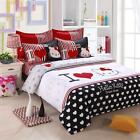 Bedding Sets Cartoon Hello Kitty 4pcs Bed Sheet Cover Pillowcase King Queen Size