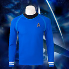 Star Trek Spock Bones Leonard McCoy Cosplay Costume Blue Shirt Trekkies Trekkers on eBay
