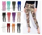 NEW LADIES SKINNY COLORED JEGGINGS STRETCH TROUSER LEGGINGS PLUS SIZES 4 - 22