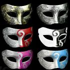 "Roman Style MASQUERADE PARTY MASK Hard Plastic 10"" W x 3.5"" H Choice of Color"