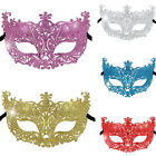 """Halloween MASQUERADE PARTY GLITTERY MASK 9"""" W x 4.5"""" H One Size Choice of Color"""