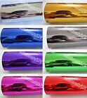 Silver Red Gold Car Glossy Mirror Chrome Series Entire Wrap Vinyl Sticker Sheet