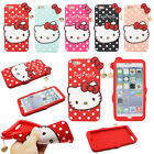 3D Hello Kitty Silicone Phone Case For iPhone X SE 5 6 7 Plus Samsung J5 J7 J3