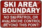 Ski Area Boundary Vintage Look Reproduction Metal Sign 8x12 8123076